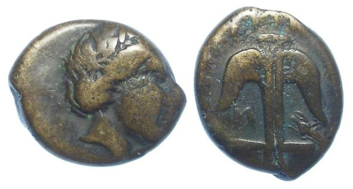 Ancient Coins - Thrace, Apollonia Pontica. 4th to 3rd Century BC. AE 13.