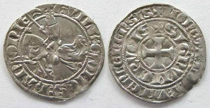 Ancient Coins - Hainault, Guillaume Le Bon Valenciennes.  AD 1304-1337.