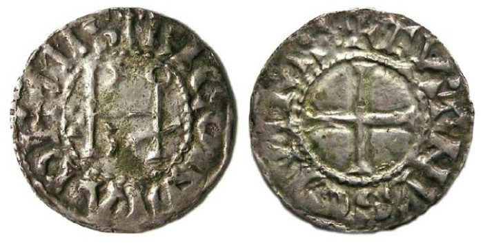 Ancient Coins - Carolingian,The West Frankish Kingdom. Eudes (also known as Odo), AD 888 to 897.