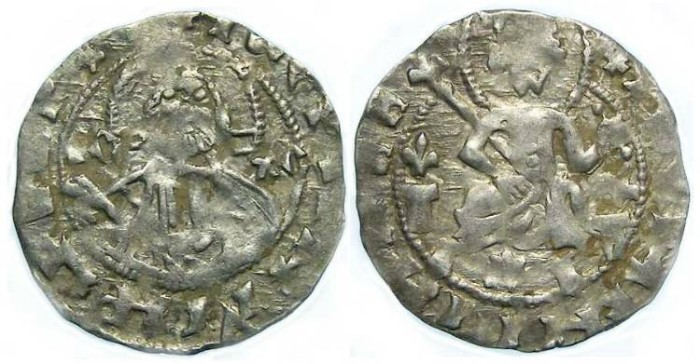 Ancient Coins - Bulgaria. Ivan Stracimir. AD 1358 to 1396. Silver Grosh.