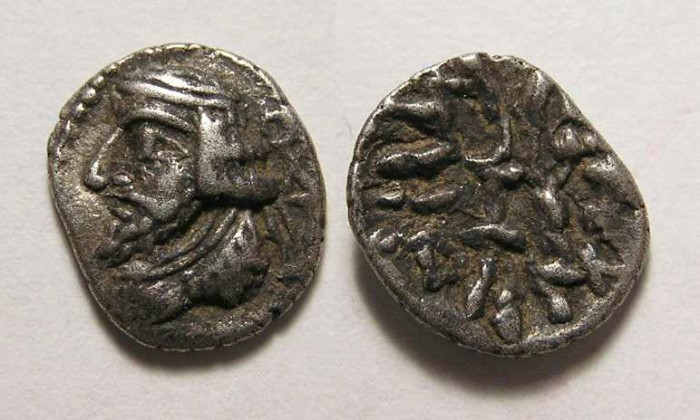 Ancient Coins - Kingdom of Persis. Varsir, 1st century BC. Silver obol.