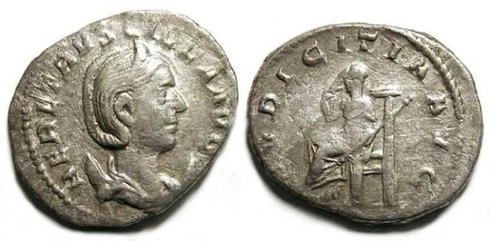 Ancient Coins - Herennia Etruscilla, AD 249-251. Silver Antoninianus