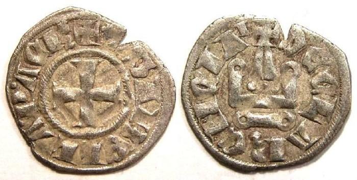 Ancient Coins - Crusader. Achaea, Isabelle de Villehardouin