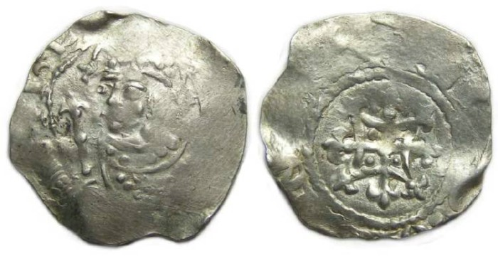 Ancient Coins - English, Henry I, AD 1100 to 1135. Silver penny.