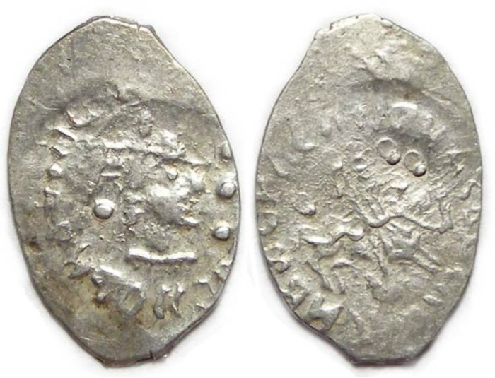 Ancient Coins - Russia. Vasili II, AD 1425 to 1462.  Silver Denga