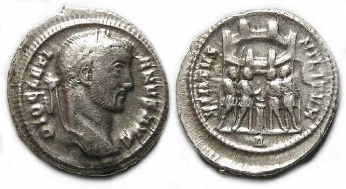 Ancient Coins - Diocletian, AD 284-305. Silver Argentius.