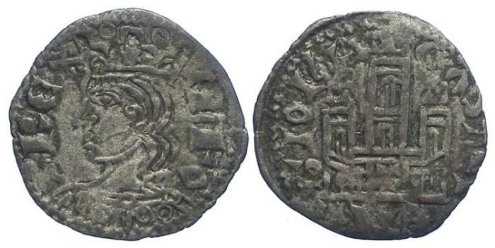 Ancient Coins - Spain, Castile & Leon. Alfonso XI, AD 1312 to 1350. Billon Coronado Noven