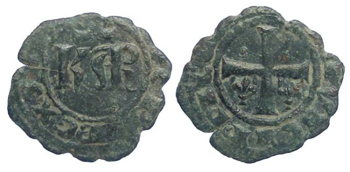 World Coins - Italy. Kingdom of Sicily. Charles I of Anjou. AD 1266 to 1282. Billon Denaro.