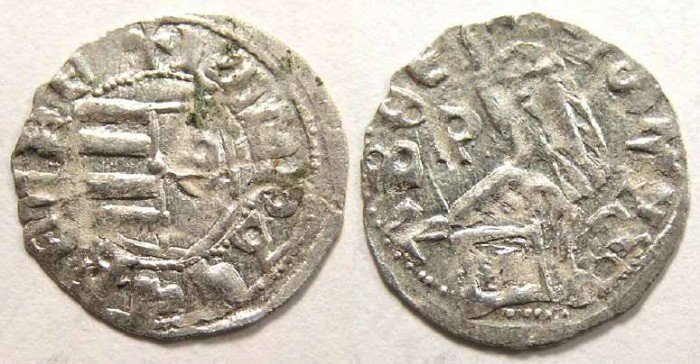 Ancient Coins - Wallachia.  King Mircea, AD 1386 to 1416.  Silver Ducat.