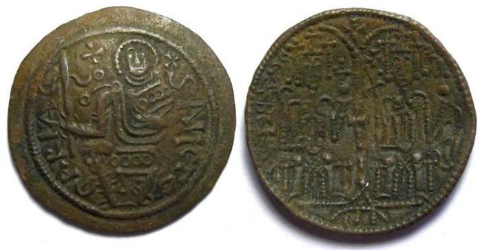 Ancient Coins - Hungary. Bela III , AD 1172 to 1196.  Bronze Follis.