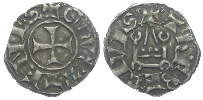 Ancient Coins - Crusaders in Frankish Greece, Athens, William de la Roche, AD 1280-1287 and Guy II de la Roche, AD 1287 to 1294.