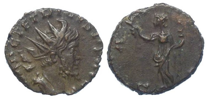 Ancient Coins - Tetricus I, AD 271 to 274. Bronze Antoninianus