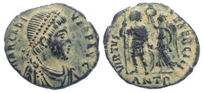 Ancient Coins - Arcadius.  AD 383 to 408.  AE 3.