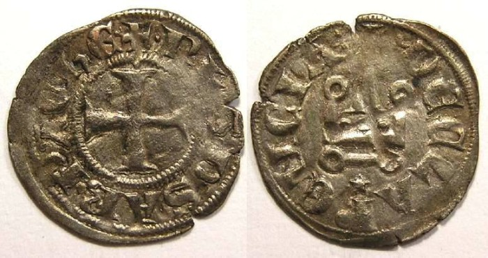 Ancient Coins - Crusaders in Frankish Greece, Achaea, Philip of Savoy, AD 1301-1306.