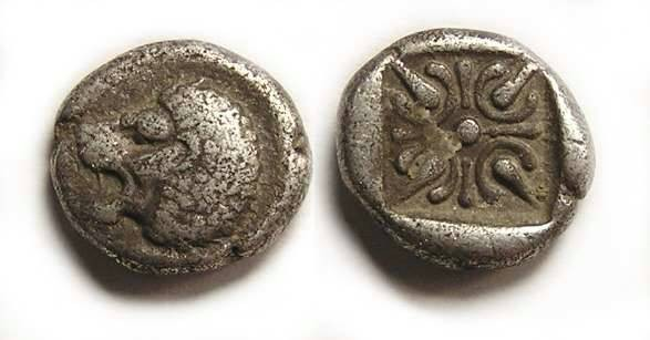 Ancient Coins - Miletos in Ionia, 1/12 stater. late 6th century BC.