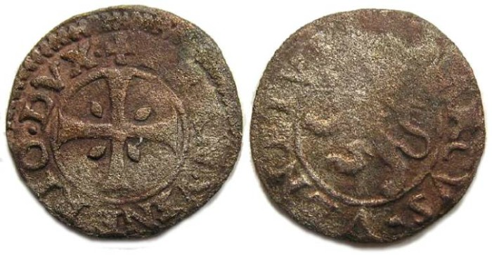 Ancient Coins - Cyprus under Venice. Francesco Venier.  1554 to 1556.