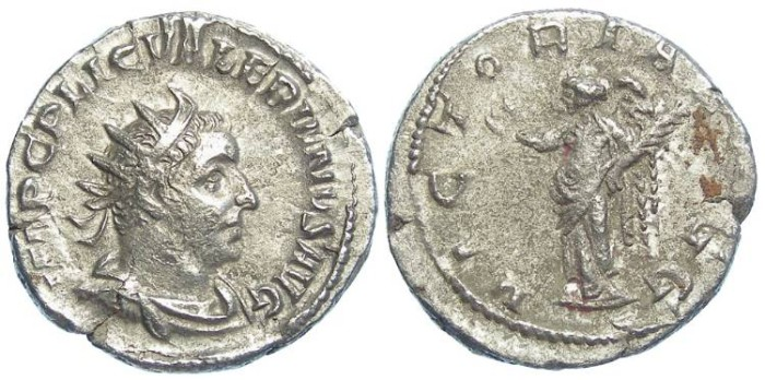 Ancient Coins - Valerian I, AD 253 to 260. Billon Antoninianus.