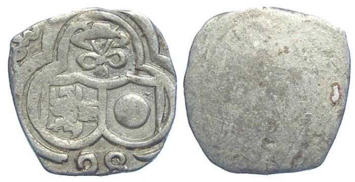 World Coins - Austria, Salzburg. Wolf Dietrich Von Raitenau, 1587 to 1612. Silver Zweier. Dated (15)98.