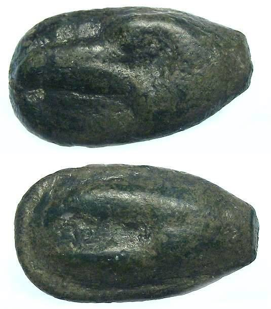 Ancient Coins - Akragas in Sicily. AE Onkia. ca. 450 BC or earlier.