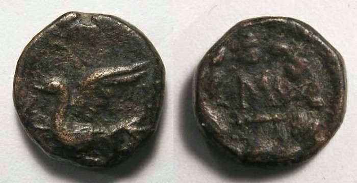 Ancient Coins - Sikyon in Sikyonia.  ca. 3rd to 4th century BC.  AE 12.