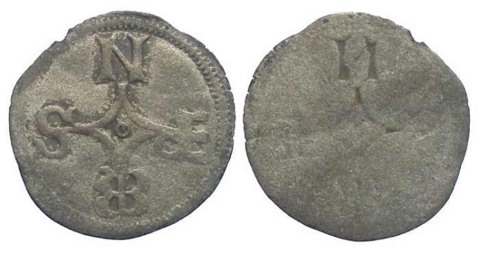 World Coins - Germany, Wurzburg.  Rudolf II von Scherenberg.  AD 1466 to 1495.  Billon Phennig.
