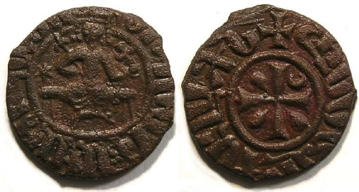 Ancient Coins - Armenia. Hetoum I, AD 1226 to 1271. Copper Kardez.