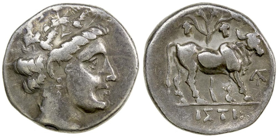 Ancient Coins - Histiaia in Euboia. Late 4th century BC. Silver drachm