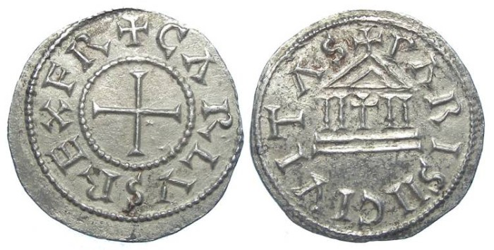 Ancient Coins - Carolingian, Charles the Bald. AD 840 to 875. King of the West Franks. The finest style.