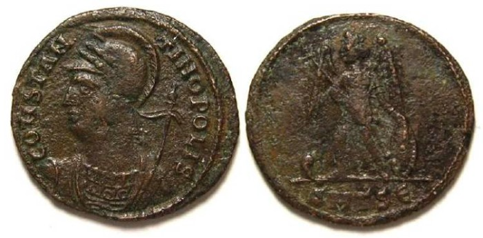 Ancient Coins - Constantine commemorative period, ca. AD 330-346.