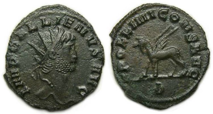 Ancient Coins - Gallienus, AD 253 to 268. Bronze Antoninianus