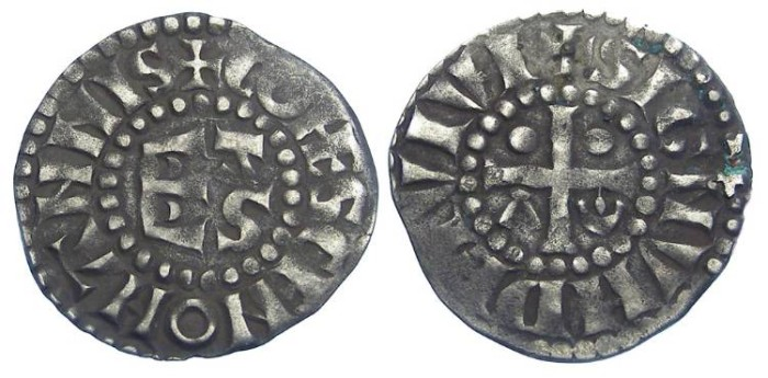 Ancient Coins - Frence Feudal. Maine. successors of Herbert I, 12th to 13th century. Silver denier.