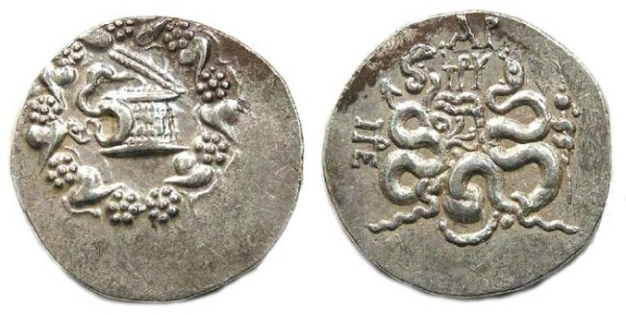 Ancient Coins - Roman Province of Asia.  After 133 BC. Cistophoric tetradrachm.