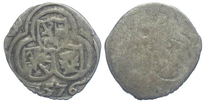 Ancient Coins - Austria, Salzburg. Johann Jakob Khuen Von Belasi, AD 1560 to 1586. Silver Zweier. Dated 1576..