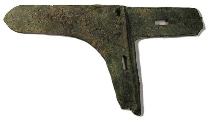 Ancient Coins - China bronze Halberd blade, 400 BC to AD 200.