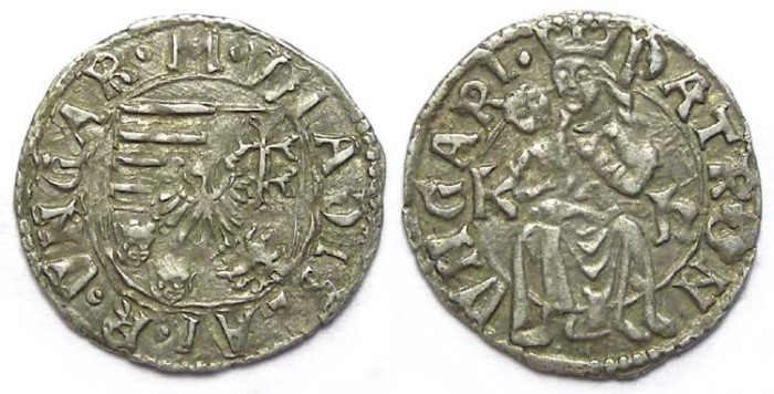 Ancient Coins - Hungary. W;adislaus II. 1490 to 1516. Silver denar.  Issue of 1500 to 1502.