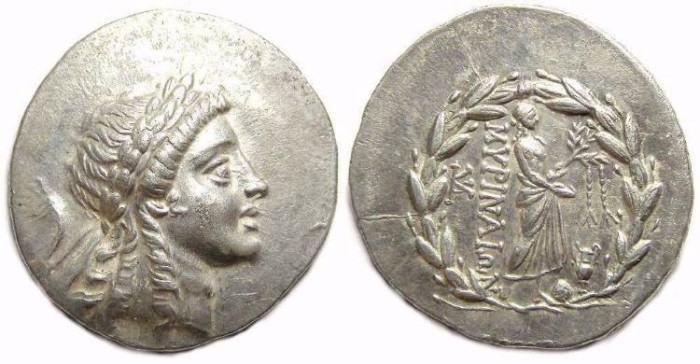 Ancient Coins - Myrina in Aiolis. ca. 2nd century BC. Silver Tetradrachm.