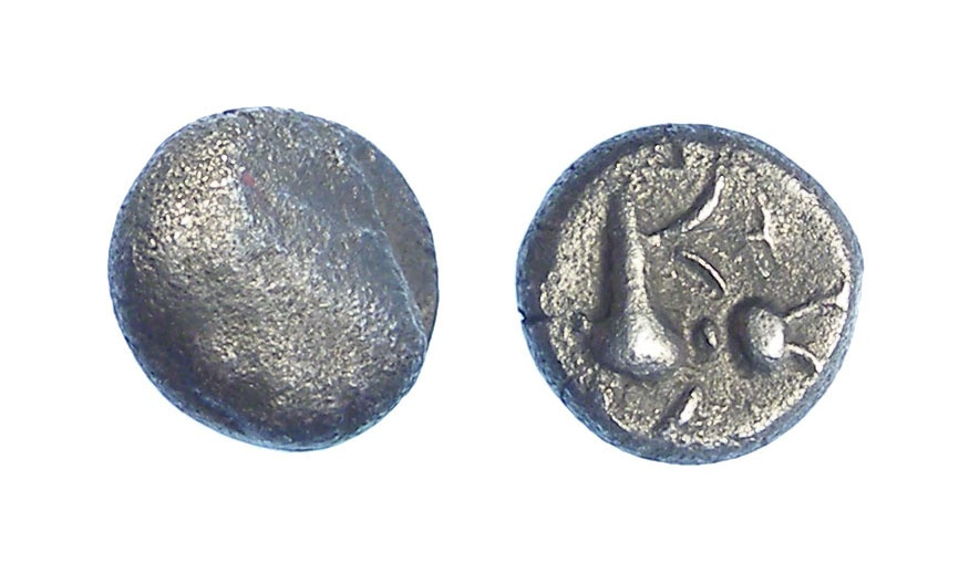 Ancient Coins - Celts in Bohemia.  Th Boii.  2nd to 1st century  BC. Silver fractional unit.