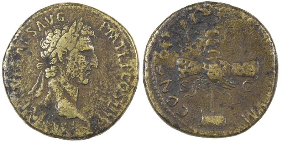 Ancient Coins - Nerva. AD 96-98. AE sestertius.