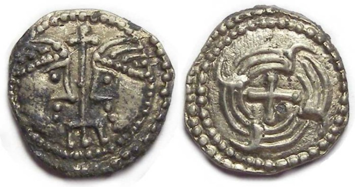 Ancient Coins - Britain, Anglo-Saxon, ca. AD 710 to 675. Secondary series sceattas.