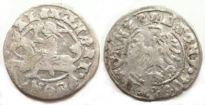 Ancient Coins - Lithuania, Alexander Jagiello, AD 1492-1506. Silver 1/2 Groschen.