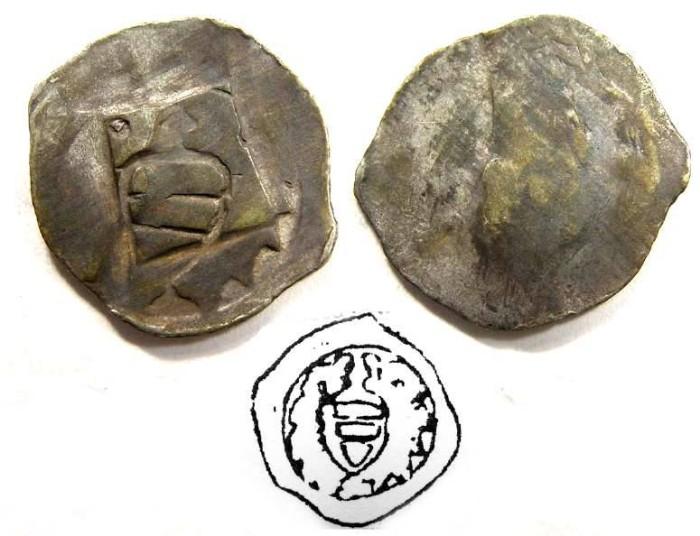 Ancient Coins - Austria, Vienna. Albrecht I, AD 1282 to 1308. Silver Pfennig.