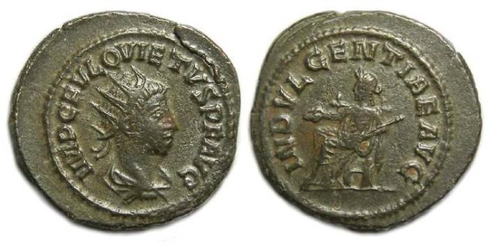 Ancient Coins - Quietus, AD 260 to 261. Billon Antoninianus.