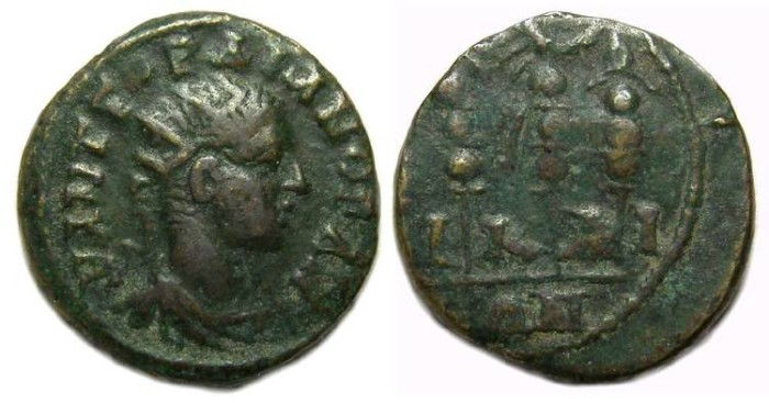 Ancient Coins - Gordian III, AD 238-244. AE 17 from Nicaea in Bithynia