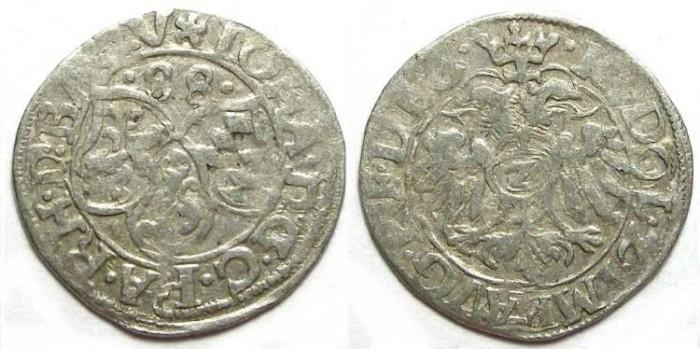 Ancient Coins - German, Palatinate Zweibrucken.  Johann I, 1569 to 1604.  2 kreuzer. Dated 1588.