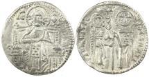 World Coins - Italy, Venice. Franceso Dandolo, AD 1328 to 1339. Silver Grosso.