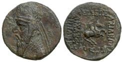Ancient Coins - PARTHIA. Mithridates II, ca 128 - 88 BC. AE Tetrachalkon