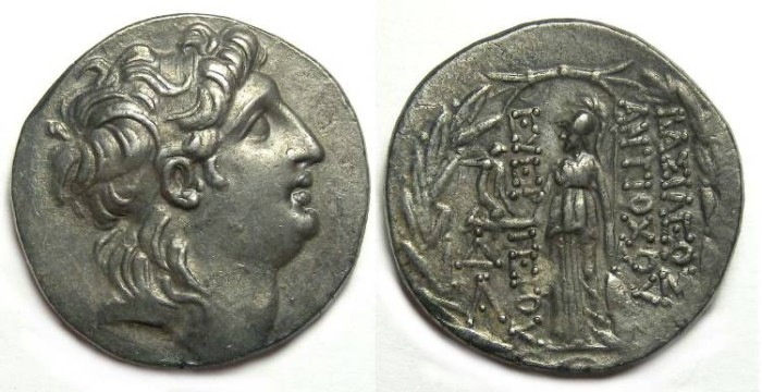 Ancient Coins - Seleukid. Antiochos VII, 138 to 129 BC. Silver tetradrachm.