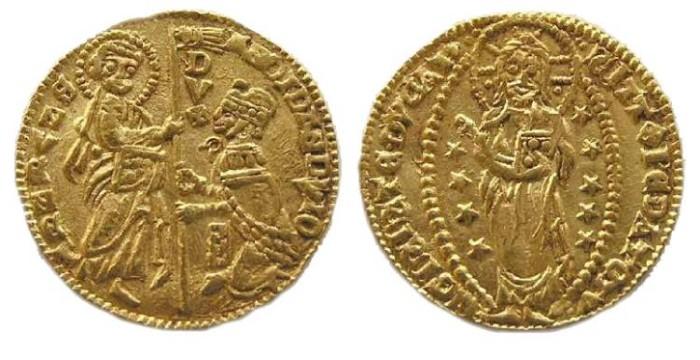 Ancient Coins - Italy, Venice.  Andreas Dondolo, AD 1343-1384. Gold ducat