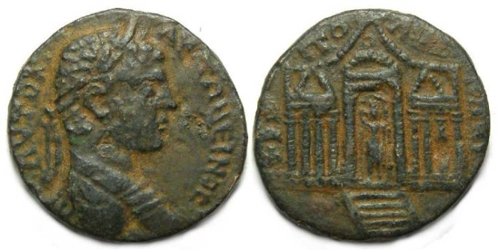 Ancient Coins - Tripoli in Phoenicia.  Elagabalus, AD 217 to 222.  AE 27.