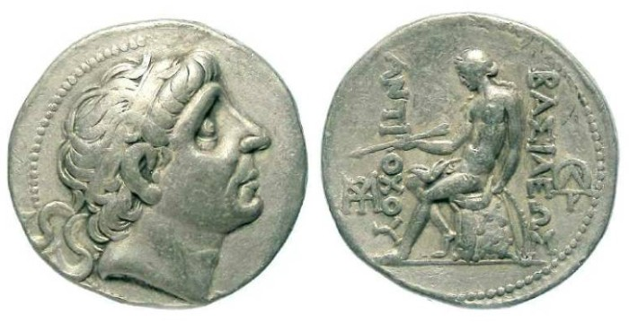 Ancient Coins - Seleukid. Antiochos II, 261 to 246 BC. Silver tetradrachm.